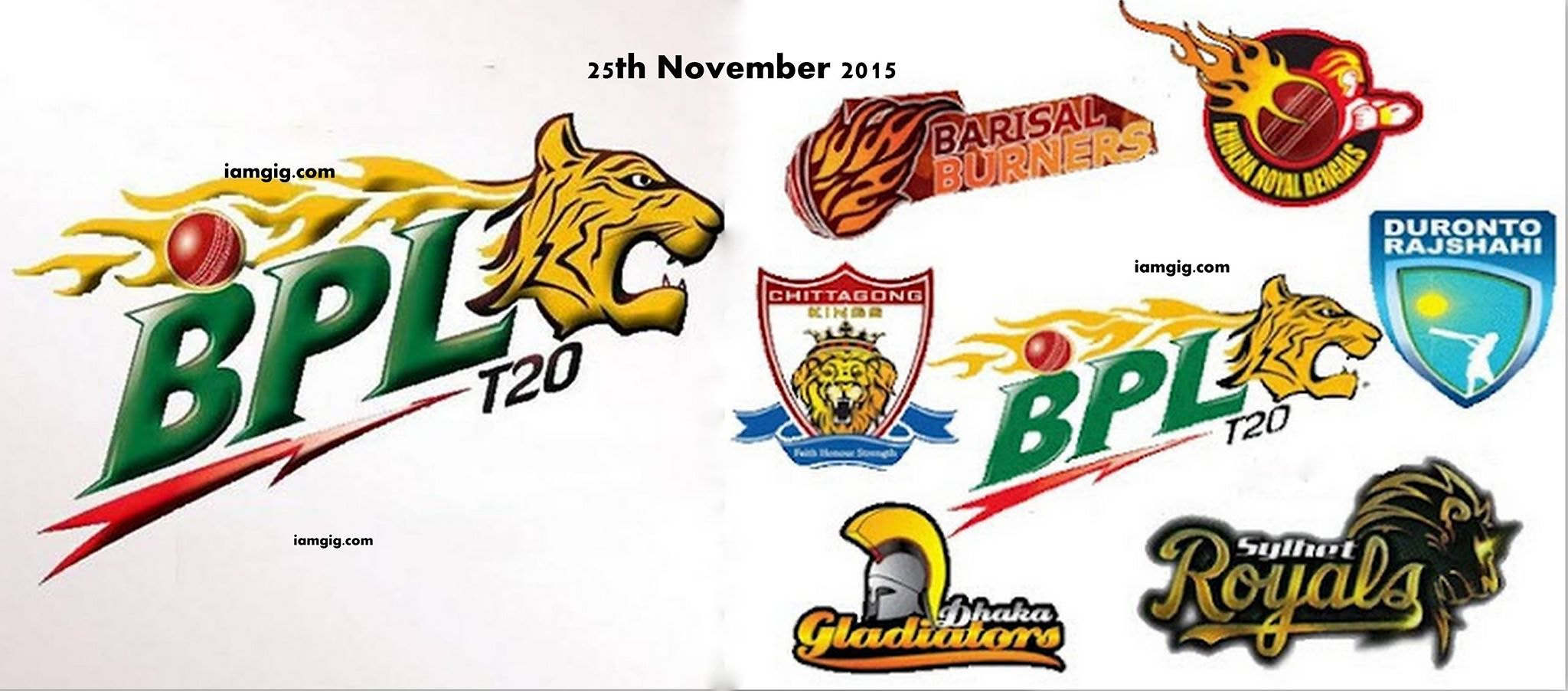 Bangladesh Premier League - BPL T20 ( Cricket ) Starts From 25th November 2015